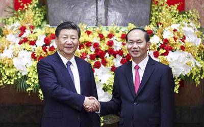 習近平同越南國家主席舉行會談