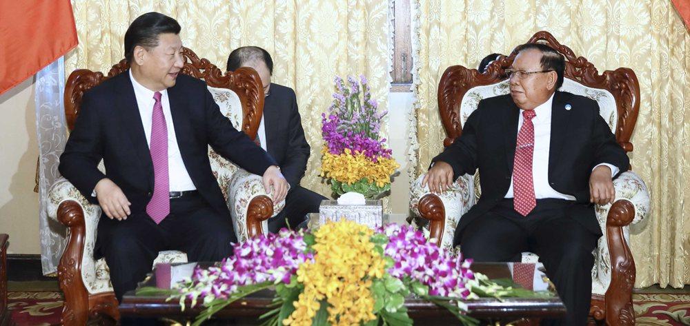 習近平同老撾人民革命黨中央委員會總書記、國家主席本揚舉行會談