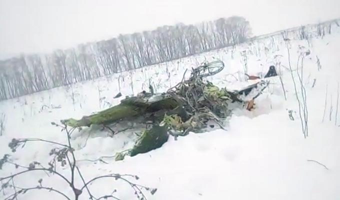 一架民航客機在莫斯科州墜毀(組圖)