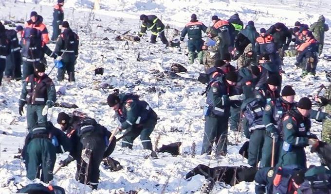 莫斯科州墜機現場後續