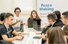 """特寫:高中生模擬""""以巴和平談判達成協議"""""""