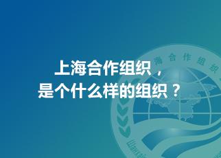 上海合作組織,是個什麼樣的組織?