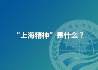 """""""上海精神""""是什麼?"""