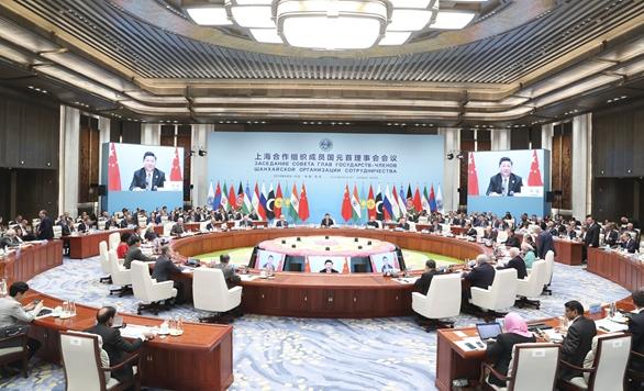 上合组织青岛峰会举行 习近平主持会议并发表重要讲话