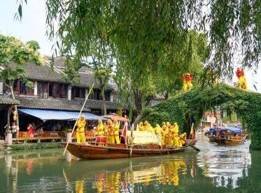 江南水鄉周莊傳統端午習俗人氣旺