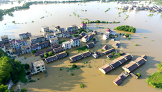 江西東鄉遭洪水襲擊