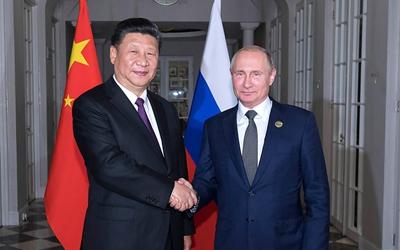 習近平同俄羅斯總統舉行會晤