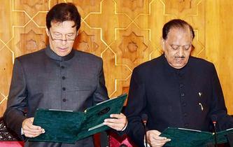 伊姆蘭·汗宣誓就任巴基斯坦政府總理