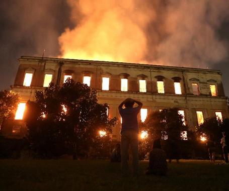 巴西国博发生大火