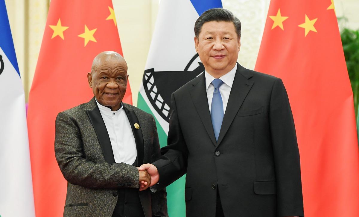 習近平會見萊索托首相塔巴內