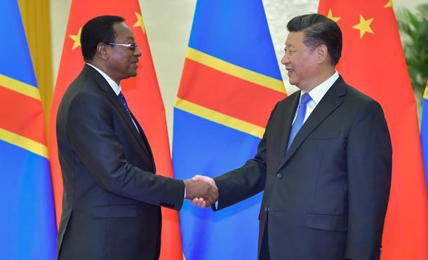 习近平会见刚果民主共和国总理奇巴拉