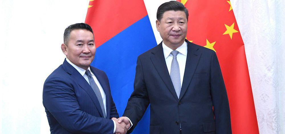 習近平會見蒙古國總統巴特圖勒嘎