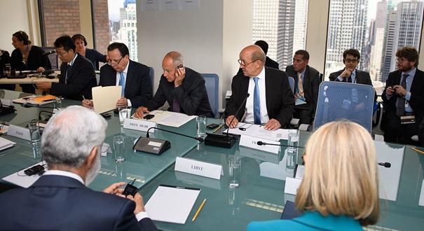 各國代表在聯合國就敘利亞問題召開會議