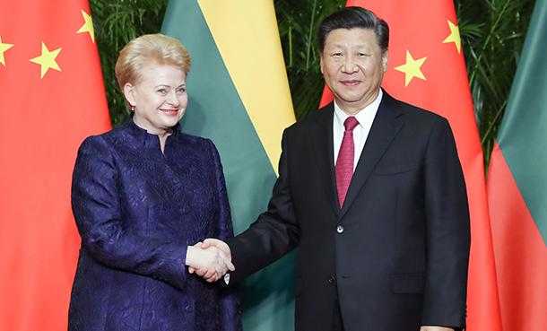 習近平會見立陶宛總統格裏包斯凱特