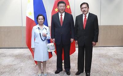 習近平會見菲律賓眾議長和參議長