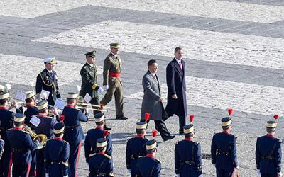 習近平出席西班牙國王舉行的盛大歡迎儀式
