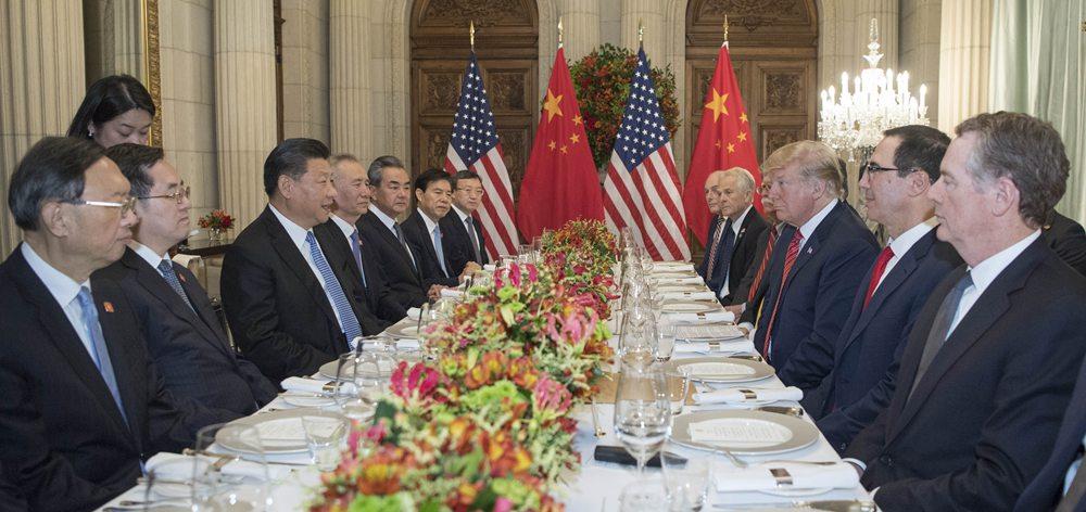 習近平主席同特朗普總統舉行中美元首會晤