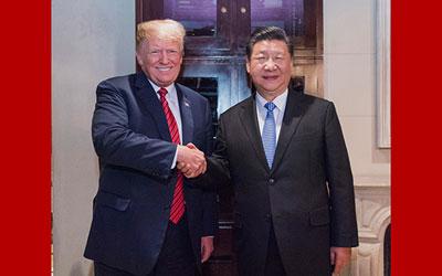 習近平同美國總統舉行會晤