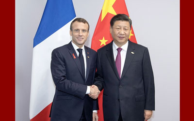習近平會見法國總統