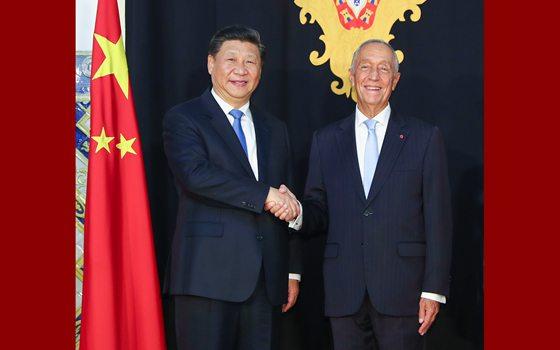 習近平同葡萄牙總統德索薩舉行會談