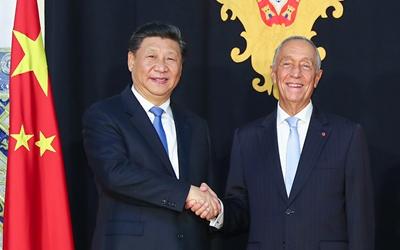 習近平同葡萄牙總統舉行會談