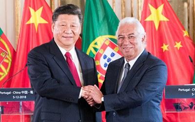 習近平會見葡萄牙總理