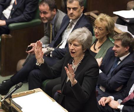"""英議會對""""脫歐""""協議替代方案進行辯論"""