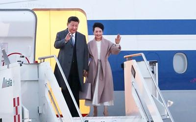習近平抵達羅馬 開始對意大利共和國進行國事訪問