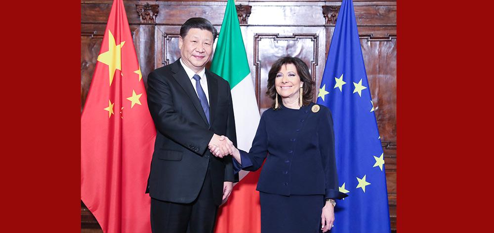 習近平會見意大利參議長卡塞拉蒂