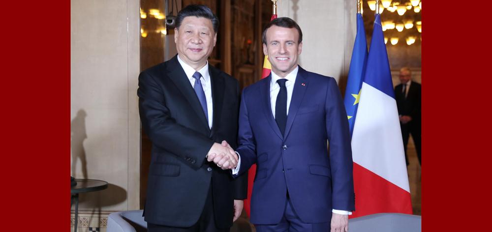 習近平會見法國總統馬克龍