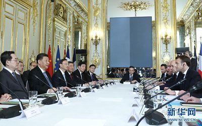 習近平同法國總統會談