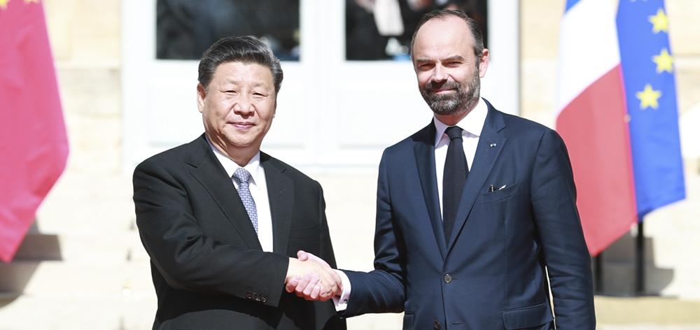 習近平會見法國總理菲利普