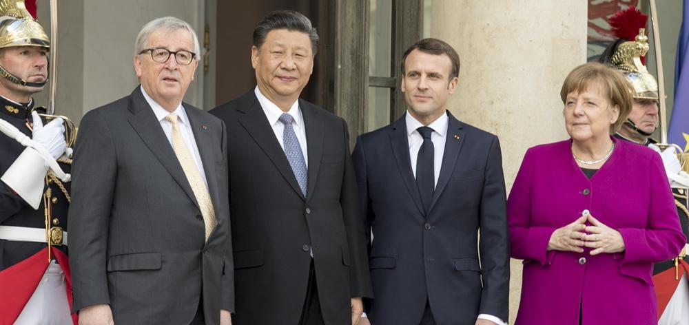 習近平同出席中法全球治理論壇閉幕式的歐洲領導人舉行會晤