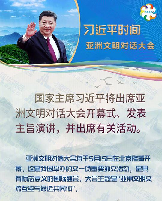 國家主席習近平將出席亞洲文明對話大會並發表主旨演講