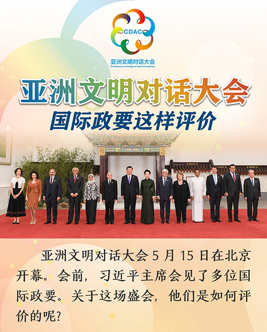 亞洲文明對話大會,國際政要這樣評價