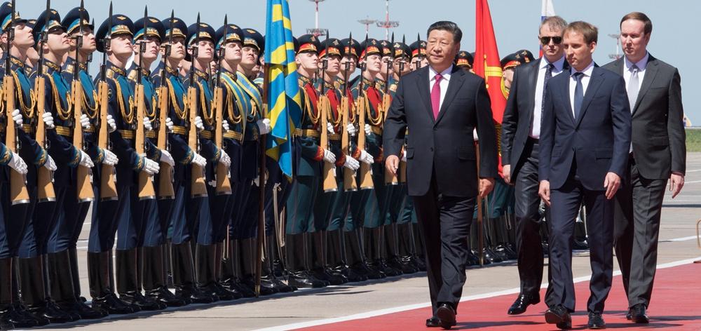習近平抵達莫斯科開始對俄羅斯聯邦進行國事訪問