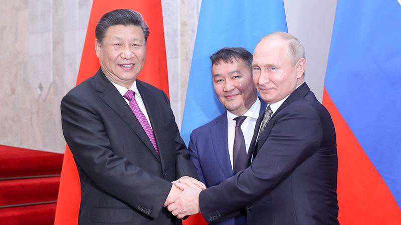 習近平出席中俄蒙元首第五次會晤
