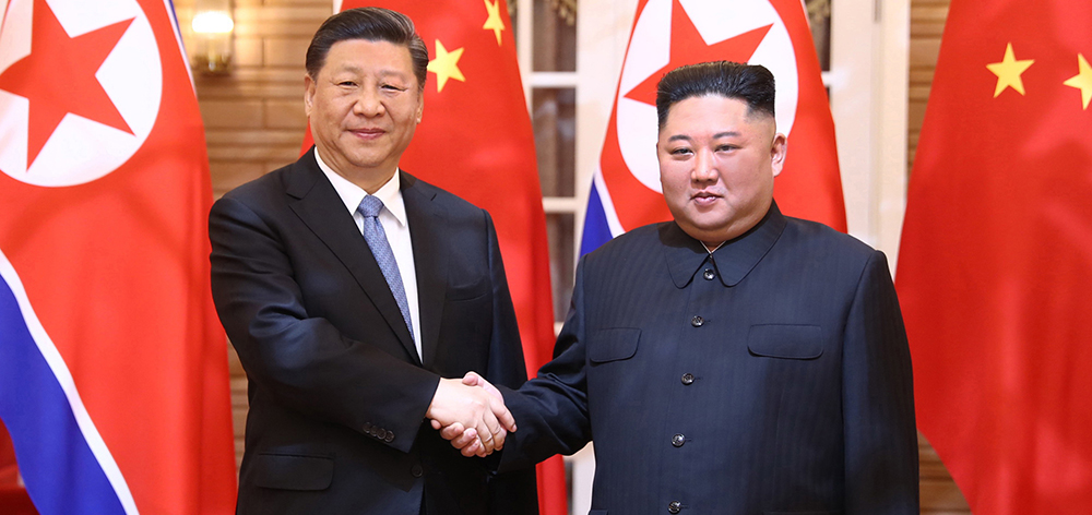 習近平同朝鮮勞動黨委員長、國務委員會委員長金正恩舉行會談