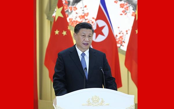 習近平出席朝鮮勞動黨委員長 國務委員會委員長舉行的歡迎宴會