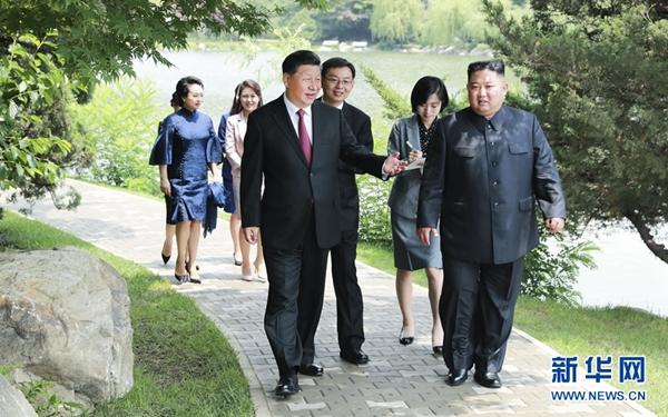 習近平會見朝鮮勞動黨委員長 國務委員會委員長