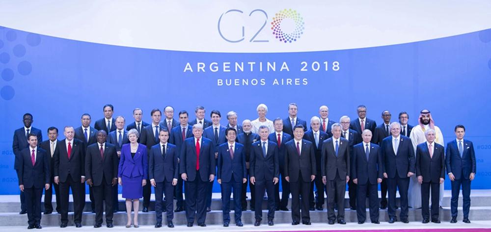 2018年11月30日:習近平出席二十國集團領導人第十三次峰會並發表重要講話