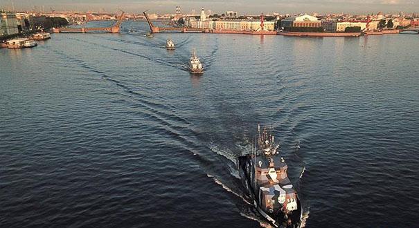 俄羅斯海軍日閱兵彩排有序進行