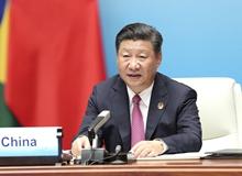 金磚國家領導人第九次會晤舉行 習近平主持會晤並發表重要講話(2017年9月4日)