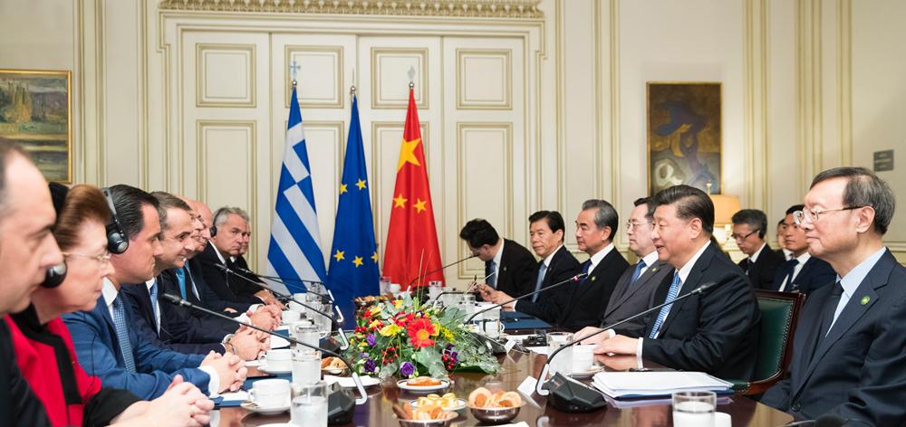 習近平同希臘總理米佐塔基斯會談