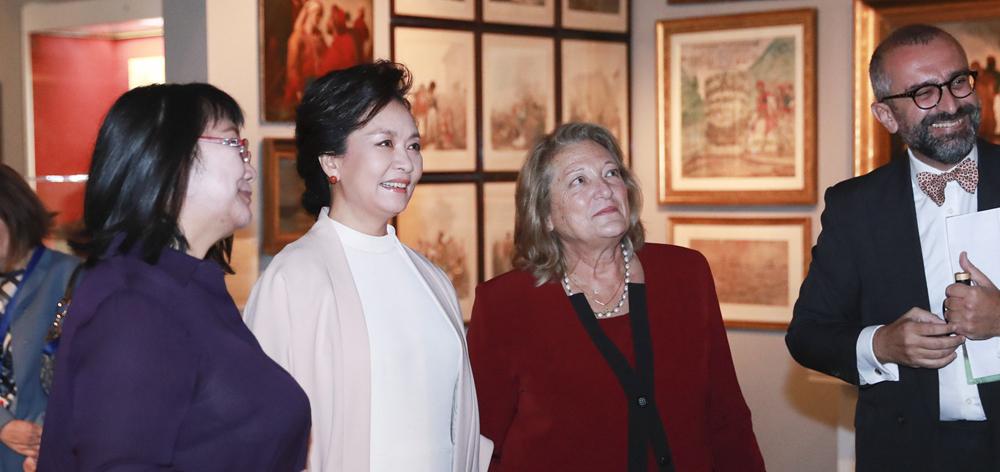 彭麗媛參觀希臘貝納基博物館