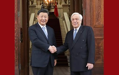 習近平同希臘總統帕夫洛普洛斯會談