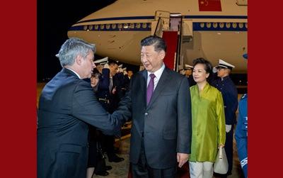 習近平抵達巴西利亞出席金磚國家領導人第十一次會晤