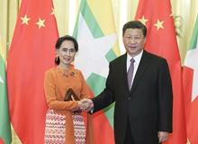 習近平會見緬甸國務資政昂山素季(2017年5月)