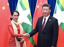 習近平會見緬甸國務資政昂山素季(2017年12月)