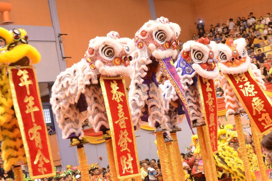 馬來西亞舉行新春龍麒獅大團拜